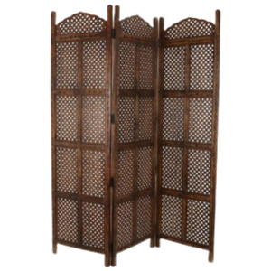 Room Divider, Privacy Screen/Separator/Partition, Wooden Hand Carved 3 Panel Div