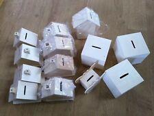 JOBLOT 13 MIXED PLAIN WOODEN MONEY BOXES crafts Etc See Pics New