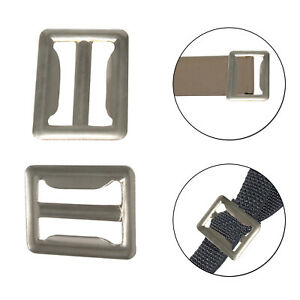 Sliver Slider Tri-Glide Buckle for Webbing Bag Belts Clothing Handbag Shoes 37mm