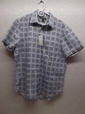 Michael Kors Classic Fit Short Sleeved Button Up Men's Dress Shirt Size Large