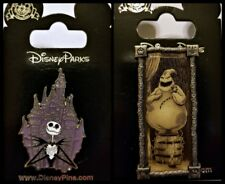 Disney 2 Pin Lot NBC Nightmare BEFORE Christmas JACK + Oogie stretching portrait