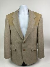 PENDLETON Vtg Western Suit Jacket Blazer Men's Sz 38 USA Made Wool Elbow Patches