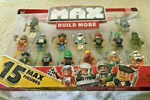 15 piece Max Build More Blocks Compatible with Major Brands Cowboy Joker Knight