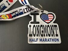 Official Colorado Longmont Half Marathon Medal 2017