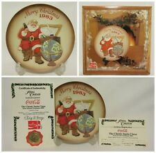 1983 Coca Cola Christmas Santa Collector Plate Royal Orleans First Annual #217