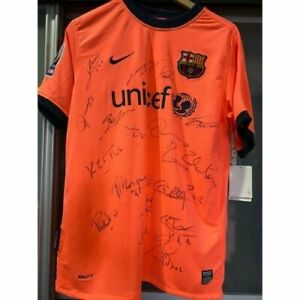 Barcelona Lionel Messi #10 FC Best Lineup Signed Jersey Limited  Away Shirt 2009