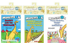 I Can Read Book & CDs Danny and the Dinosaur,Go to Camp,Happy Birthday 3pk NEW