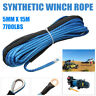 3/16 x 50 Inch Winch Line Rope Cable 7700LBS for ATV UTV Vehicle Synthetic Blue