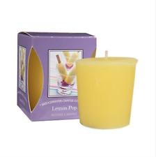 4 X Bridgewater Candles Votive Candles Scent Lemon Pop Brand New In Box