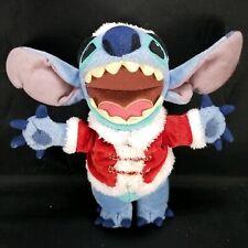 "Lilo & Stitch Christmas Santa Stitch Beanie Beanbag Plush 8"" 2004 Stuffed Animal"