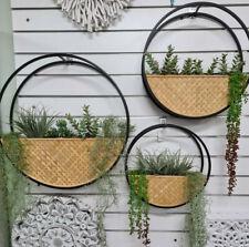 Cane Planter Metal Wall Art Indoor Outdoor Patio Garden Plant Home Decor Beach