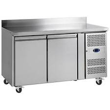 TEFCOLD 2 DOOR GRADED STAINLESS PREPERATION COUNTER REFRIGERATOR + FREE DELIVERY