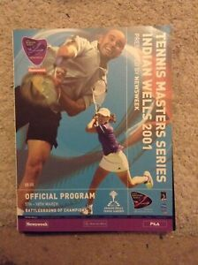 2001 Tennis Masters Series Indian Wells Programme: Mens & Womens Tennis