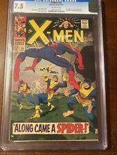 X-MEN #35 8/67 CGC 7.5 OW SPIDEY X-OVER! NICE EARLY X-MEN COLLECTIBLE!