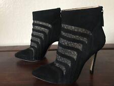 Beautiful Chelsea Paris Black Suede Lace Ankle Booties Size 36 U.S. Size 6