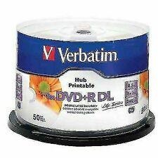 Verbatim 97693 DVD + R Double Layer 8 x 8.5 GB Blank Disc - 50 Piece