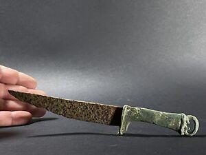 LARGE ANCIENT ROMAN BRONZE AND IRON MEDICAL TOOL EUROPE - CIRCA 200-300AD
