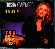 TRISHA YEARWOOD HOW DO I LIVE 3 TRACK CD - EXCELLENT - VGC