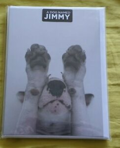 """Jimmy Choo"", ""Jimmy the Bull"", English Bull Terrier greetings cards. Brand new"