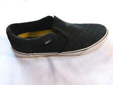 Mens Vans Asher Checker Skate Shoes (Black) Size 13
