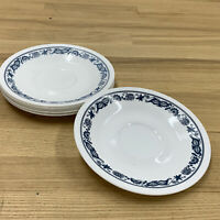 Set of 6 Corelle Corning OLD TOWN BLUE ONION Hook Handle Coffee Tea Plates