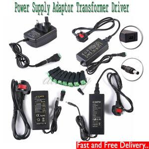 AC100-240V TO DC 12V1A 2A 5A 6A 8A 10A LED Power Supply Adapter Plug-in UK