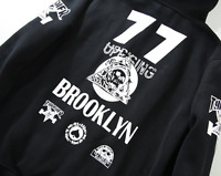 Homme Vestes Sweat à Capuche BROOKLYN Hip-hop Skateboard Thrasher Femme Pulls