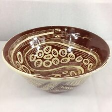 Vintage Studio Pottery Fruit Bowl Snake Best With Eggs Unmarked 27.5cm