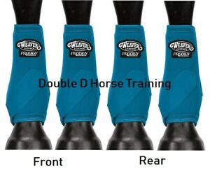 WEAVER PRODIGY PERFORMANCE ATHLETIC HORSE SPORT BOOTS Value 4 PACK TURQUOISE M