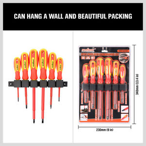 6pc 1000V Insulated Screwdriver Set Magnetic Tips Electrician Slotted Phillips