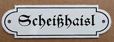 Scheißhaisl Toilette Abort WC Klo Email Schild Emailschild Emaille nostalgisch