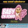 Baby On Board Vinyl Sticker Decal for car,ute,4x4 -Cute Boy or Girl versions