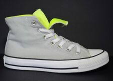 CONVERSE All Star 2-Fold Double Tongue High Top Gray & Yellow  Mens 4 Womens 6