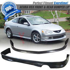 Fits 02-04 Acura RSX DC5 AS Front + Rear Bumper Lip Spoiler