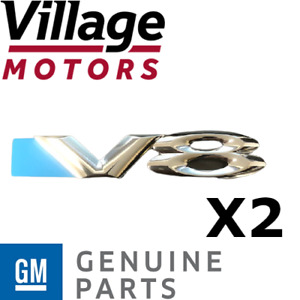 Genuine Holden New V8 Badges to suit VY VZ Commodore set of 2 92084153 chrome
