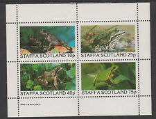 GB Locals - Staffa 116 - 1982 FROGS perf sheet of 4  unmounted mint
