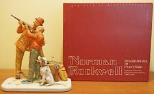 Norman Rockwell's Careful Aim Four Seasons Fall Figurine - dad's boy limited box