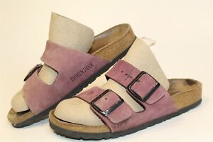 Birkenstock USED Womens 5 36 Arizona Leather Slides Flat Germany Made Shoes