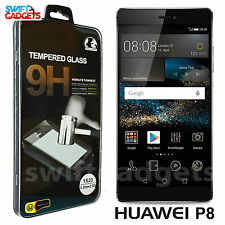 100% Genuine TEMPERED GLASS Screen Protector Film Guard for HUAWEI ASCEND P8