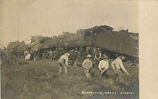 Wisconsin, WI, Boyceville, 2 Train Engine Head On Wreck 1907 Real Photo Postcard