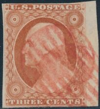 #10A FINE USED RIGHT MARGIN COPY WITH RED CANCEL CV $170 BS3703