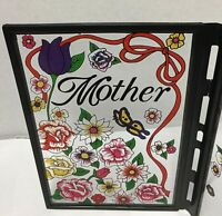"""Glass GREETING CARD - """"LOVING Mother""""  THEME"""