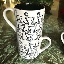 c1d065a949a Graydon Hall Stackable LAMA Coffee Mug Set BLACK & White Coffee Cups Tea Cup