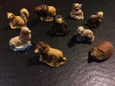 WADE RED ROSE TEA LOT OF 9 WILD ANIMALS FIGURINES COLLECTION