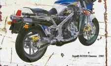 Suzuki RG500 Gamma 1985 Aged Vintage Photo Print A4 Retro poster