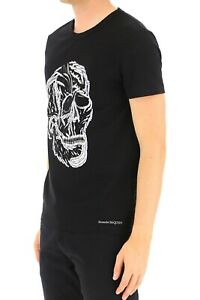Alexander McQueens Skull Printed Tee | Black | Size S M L | 100% Authentic | AMQ