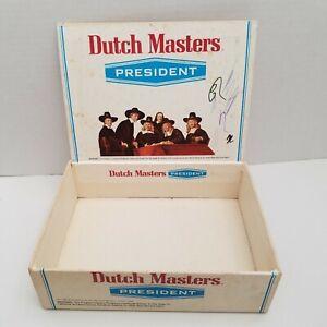 Vintage Dutch Masters President Cardboard Cigar Box EMPTY BOX ONLY Collectors
