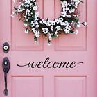 """Welcome Wall Decal Home Decor Welcome Door Decal Vinyl Lettering 2""""h X 12""""w"""