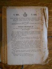 CARTELLA CON REGI DECRETI DELL'ANNO 1904  DAL DECRETO N. 601 AL N. 730