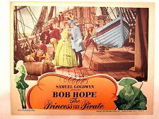 PRINCESS & THE PIRATE(1944)BOB HOPE & VIRGINIA MAYO ON DECK ORIGINAL LOBBY CARD